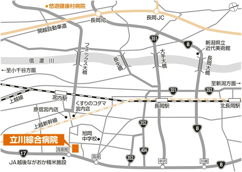 立川綜合病院 周辺地図